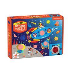 Mudpuppy Puzzle s tajným obrázkem - Vesmír / Puzzle Secret Picture - Outer Space (42dílků)