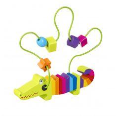 Orange Tree Toys Krokodýl s korálky (Crocodile bead frame)