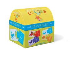 Crocodile Creek Puzzle truhlička - Farby zvierat