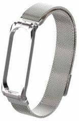 Tactical 380 Loop magnetický kovový řemínek pro Xiaomi Mi Band 3/4 2447645, stříbrná