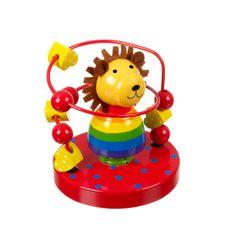 Orange Tree Toys Lev s korálky (Lion bead frame)
