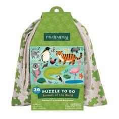 Mudpuppy Puzzle na cesty - Zvířata světa / Puzzle To Go - Animals Of the World (36 dílků)