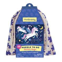 Mudpuppy Puzzle na cesty - Kouzlo jednoročce / Puzzle To Go - Unicorn Magic (36 dílků)