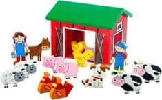 Orange Tree Toys Hrací set- farma se zvířátky / Farmyard Playset