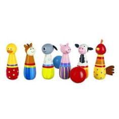 Orange Tree Toys Kuželky- Zvířátka z farmy / Skittles Farm Animals