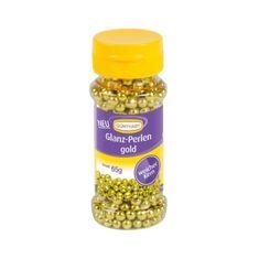 Cukrové perly na zdobení zlaté 65g