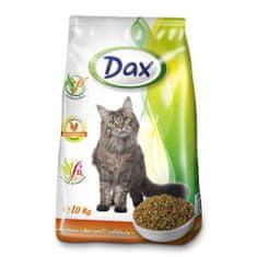 DAX Cat Dry 10kg Poultry-Vegetables granulované krmivo pro kočky drůbež + zelenina