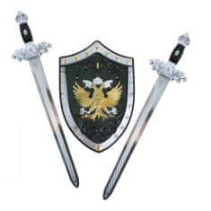 Sada rytířská - 2 meče se štítem