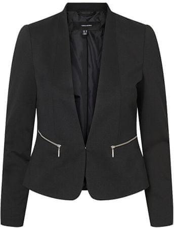 Vero Moda Ženski blazer VMBELLA LS ZIP BLAZER COLOR Black (Velikost 34)