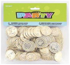 Zlaté mince pirátské - poklad - 144 ks