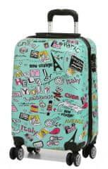 Snowball Cestovní kufr MADISSON 4W ABS S Barva: červená
