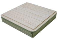 Vladeko Dřevěné pískoviště s krytem 150