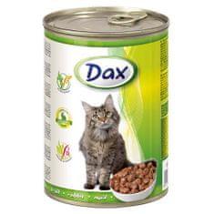 DAX konzerva pre mačky 415g s králikom
