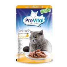 PreVital Naturel kapsičky mačky 85g hydina v omáčke