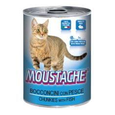 MOUSTACHE Cat Chunks ryba 415g pro dospělé kočky