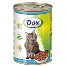 DAX konzerva pre mačky 415g s rybou