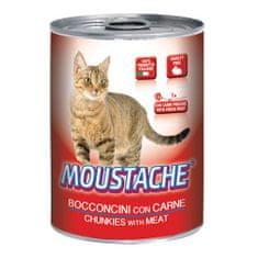 MOUSTACHE Cat Chunks mäso 415g pre dospelé mačky