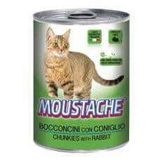 MOUSTACHE Cat Chunks králik 415g pre dospelé mačky