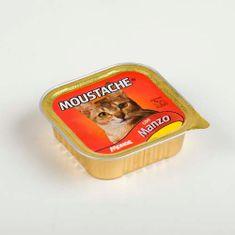 MOUSTACHE Cat Paté hovězí 100g pro dospělé kočky