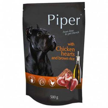 Piper ADULT 500g alutasak felnőtt kutyáknak csirkeszívvel és barna rizzsel