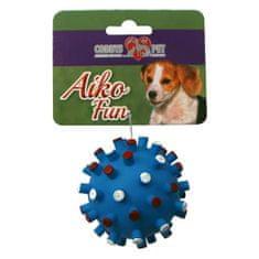 COBBYS PET AIKO FUN Tüskés labda 11cm gumijáték kutyáknak