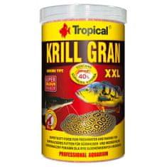 TROPICAL Krill Gran XXL 1000ml/500g többösszetevős színfokozó haltáp merülő granulátum formájában