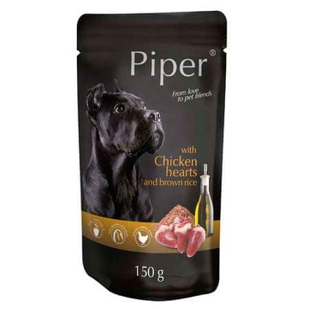 Piper ADULT 150g alutasak felnőtt kutyáknak csirkeszívvel és barna rizzsel