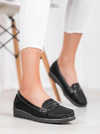 Női mokaszin 64285 + Nőin zokni Gatta Calzino Strech, fekete, 36