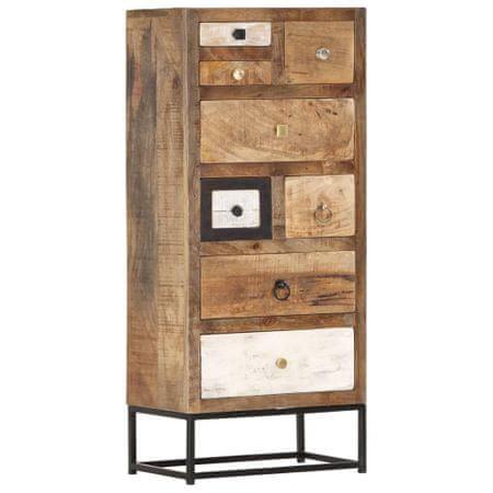 shumee tömör újrahasznosított fa fiókos szekrény 45 x 30 x 105 cm