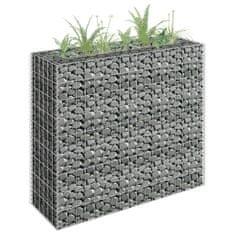 shumee Gabionový vyvýšený záhon pozinkovaná ocel 90 x 30 x 90 cm
