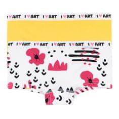 Garnamama komplet gaćica za djevojčice I Love Art, 2 komada