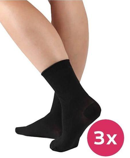 Evona 3 PACK - dámské ponožky Pohoda 999 černé (Velikost 25-27)