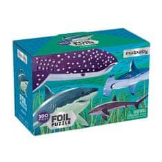 Mudpuppy Puzzle s fólií - Žraloci / Foil Puzzle - Sharks (100 dílků)