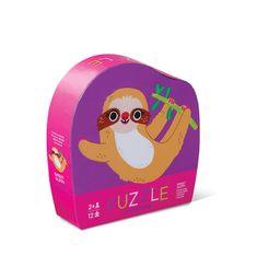 Crocodile Creek Puzzle mini - Lenochod (12 dílků) / Mini Puzzle - Sloth