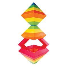 Kebo Toys Wedge-it: Vrstvící pyramida s oranžovou (15 dílků)