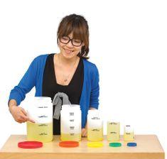 EDX Education Odměrné plastové lahve (Measuring Bottle Set)