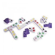 GuideCraft Velké hmatové domino- Jídlo (Jumbo texture food dominoes)
