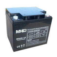 MHpower MS40-12 olověný akumulátor AGM 12V/40Ah, Terminál T1 - M6