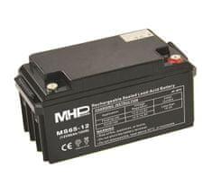 MHpower MS65-12 olověný akumulátor AGM 12V/65Ah, Terminál T3 - M8