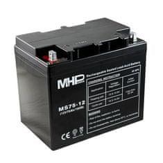 MHpower MS75-12 olověný akumulátor AGM 12V/75Ah, Terminál B4 - 8