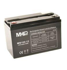 MHpower MS100-12 olověný akumulátor AGM 12V/100Ah, Terminál T3 - M8