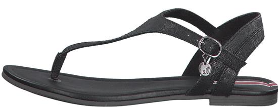 s.Oliver dámske sandále 28126_2, 36, čierna