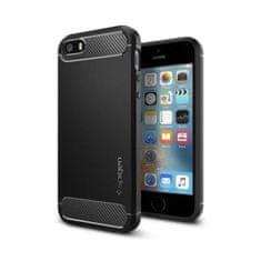Spigen Rugged Armor gumené pouzdro na iPhone 5/5S/SE, černé