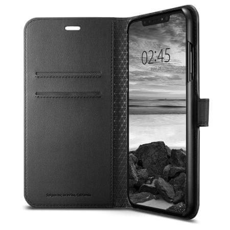 Spigen Wallet S knjižni ovitek za iPhone XS Max, črna