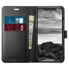 Spigen Wallet S knížkové pouzdro na iPhone X/XS, černé