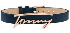 Tommy Hilfiger Štýlový modrý kožený náramok TH2780224