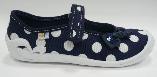 3F dívčí plátěné bačkůrky Fortuna 4A2/11 32 modrá