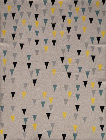 Petite&Mars Harmony Happy Triangles odeja, 100% bombaž, 80×100 cm