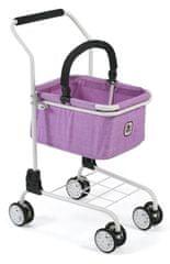 Bayer Chic wózek na zakupy z koszykiem - Lila