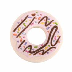 Loulou Lollipop Hryzadlo silikónové Donut ružové